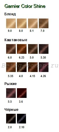 Палитра Garnier Color Shine