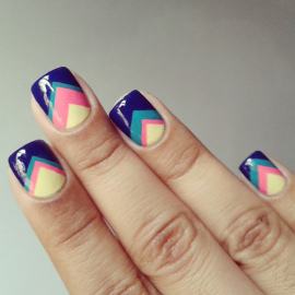 Triangles-cute-easy-nail-designs-design-nails-art-manicure-idea-paint-polish-neon-pattern-summer-do-it-yourself